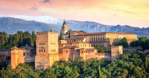 "The name Alhambra comes from an Arabic root which means ""red or crimson castle"""
