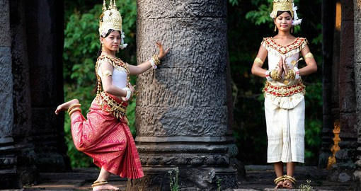Experience the evening Cultural Dance Show as part of your Cambodia Tours