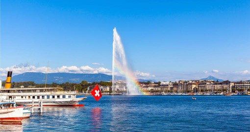 See the Jet d'Eau Fountain symbol of modern Geneva during your tour to switzerland