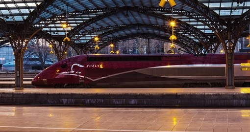 The famous Thalys train in Cologne