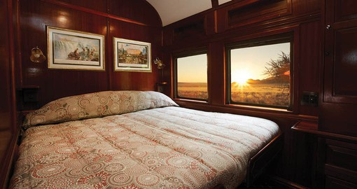 Shongololo's classic wood-panelled coaches are the epitome of comfort