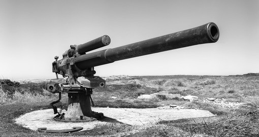 Old england cannon on Falkland islands