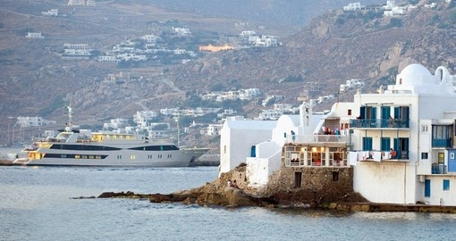 Visit Mykonos during your cruise in Greece