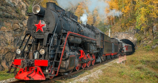 Old Steam Locomotive Baikal Railway