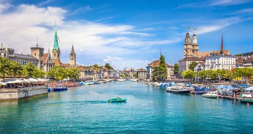 Zurich is a global center for banking and finance. The picturesque Altstadt (Old Town), lies on either side of the Limmat River