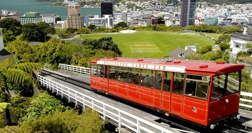 Cable car ride in Wellington