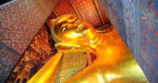 Explore the Reclining Buddha in Bangkok on your next Thailand tours.