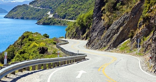 Enjoy beautiful view of the Lake Wakatipu on your drive during your next trip to New Zealand.