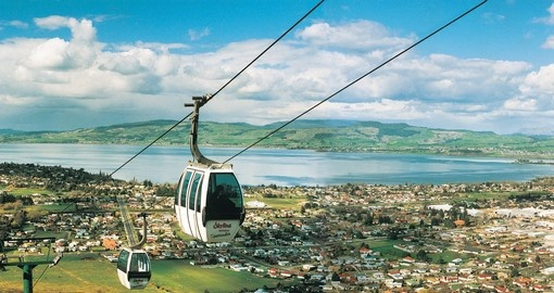 View from the Skyline Gondola in Rotorua during your next trip to Australia.