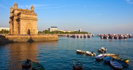 Gateway to India at sunset
