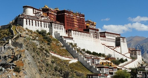 Potala Palace was the chief residence of the Dalai Lama and is one of the most popular photo opportunity on all China tours.