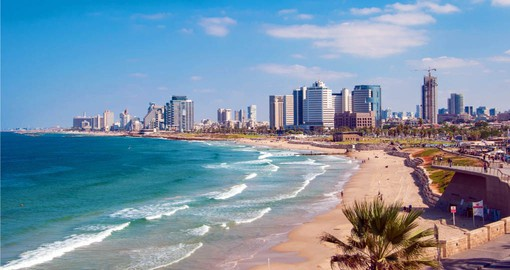 Enjoy the Mediterranean beaches around Tel Aviv during your Israel tour