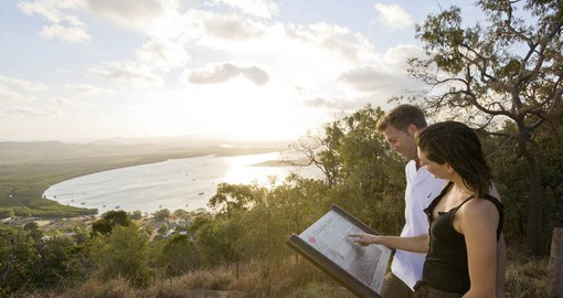 Enjoy the spectacular panoramic views from Grassy Hill of the Endeavour River on your Australia Vacation