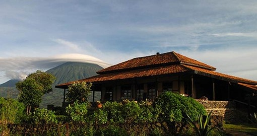Virunga Main Lodge is your home during your Rwanda Safari