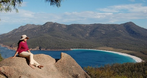 Wineglass Bay in Freycinet National Park is just one of many Tasmania tours to be included on your Australia vacation.