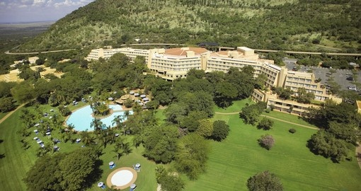 Aerial view of Sun City Hotel