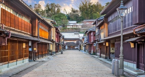 Visit the Higashi Chaya district in Kanazawa during your Japan vacation.