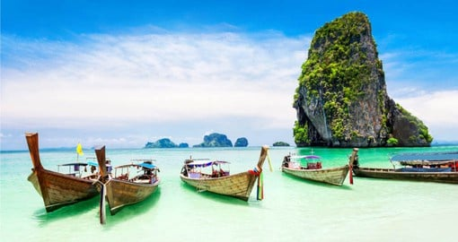 Native to Southeast Asia, the Long Tail Boat are a common sight in Phuket