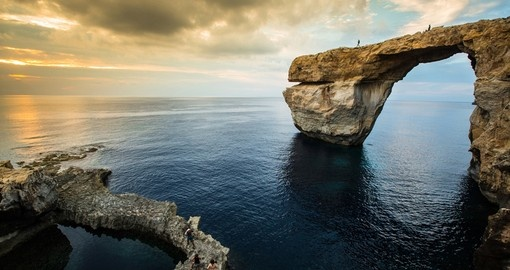 Azure Window is a natural arch on Gozo Island