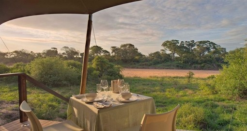 Tent views at the &Beyond Ngala Tented Camp in South Africa.