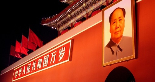 Portrait of Chairman Mao from Tiananmen Gate