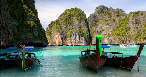 Take time on your Thai vacation to visit picturesque Maya Bay on Phi Phi Island