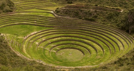 Visit the Incan farming terraces of Moray on your Peru Vacation