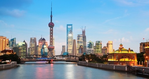 be dazzled by the bright lights on Shanghai on your China Tour