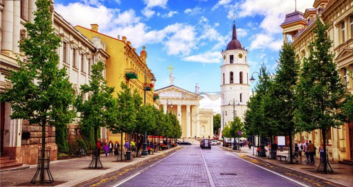 Vilnius features Europe's largest baroque old town