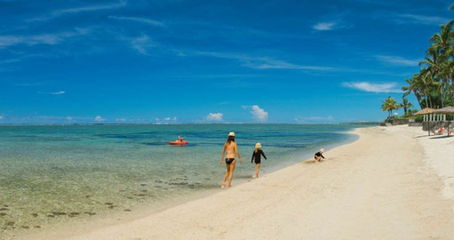 Family fun on the beach at Outrigger Fiji Beach Resort