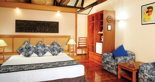 Stay at this beautiful rooms of the First Landing Beach Resort and enjoy its all amenities during your next Fiji vacations.
