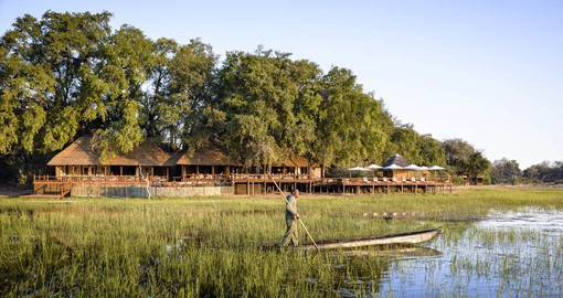 Chief's Camp is located in the exclusive Mombo Concession in the Moremi Game Reserve