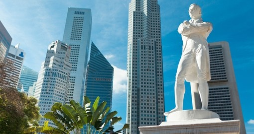 Sir Stamford Raffles who founded Singapore