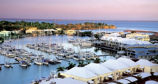 Explore Cullen Bay Marina in Darwin on your next Australia vacations.