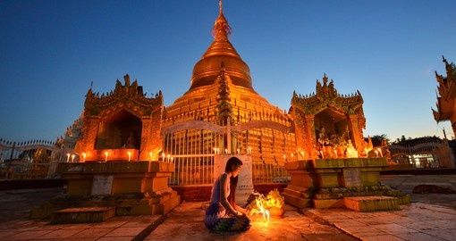 Kuthodaw Pagoda during sunset, Bagan