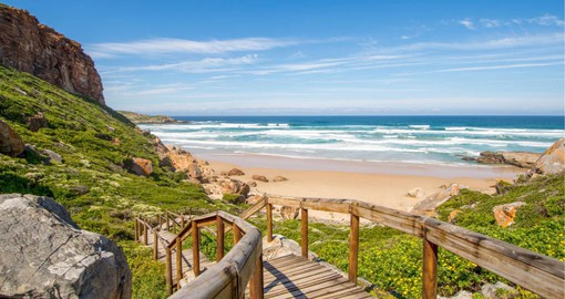 The Garden Route, a 300-kilometer stretch of coastal road regarded as the most beautiful region in the country