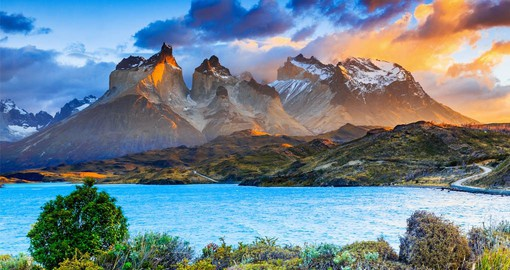 Known for its soaring mountains and bright blue icebergs, Torres del Paine National Park is the jewel of Chile's Patagonia region