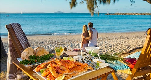 Enjoy delicous seafood on the Sunshine Coast