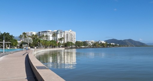 The Esplanade view in Cairns - a great spot to hang out on Australia vacations.