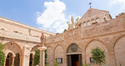 The city of Bethlehem The Church of the Nativity of Jesus Christ - A must inclusion on your Israel vacation.