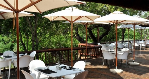 Enjoy all the amenities of the Karongwe River Lodge on your next trip to South Africa.