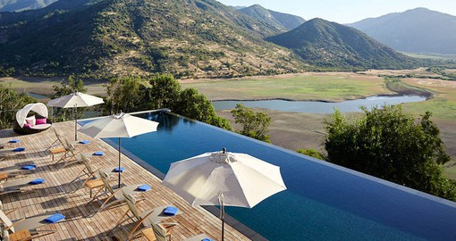 The infinity Pool overlooking the Colchagua Valley