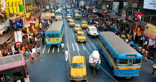 Kolkata has a density of 815 vehicles per km of road