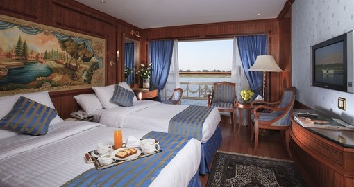 There is a wide choice of accommodation while on a cruise