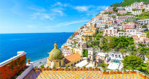 The cliffside village of Positano