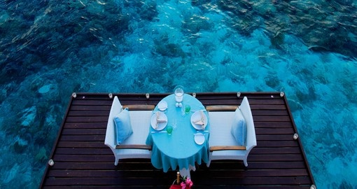Enjoy a Oceanside meal while you embrace the island lifestyle of your Trip to Maldives
