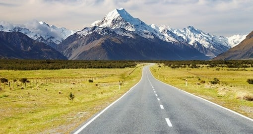 Enjoy your drive to Mount Cook, Southern Alps during your next New Zealand tours.