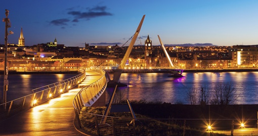Peace Bridge, Derry, Northern Ireland, United Kingdom