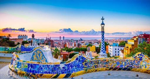 The Park Güell is one of the most mythical places in Barcelona and the masterpiece of architect Antoni Gaudí
