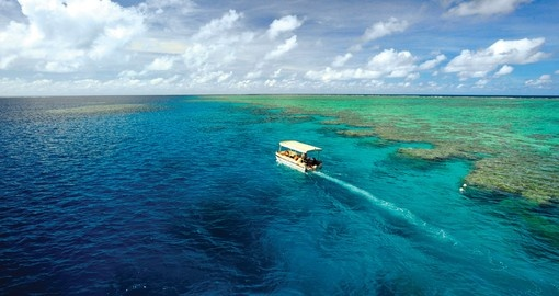 Sail through the crystal clear waters surrounding the Great Barrier Reef with Pelorus Cruise on your next Trips to Australia.
